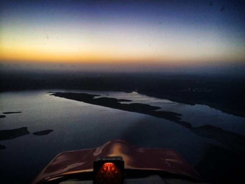 View from Hank Sasser's Plane: the last sunrise