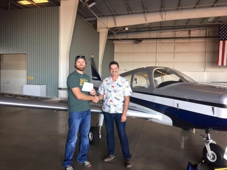 The Hank Sasser Foundation: Keep it Going blog - Paul Dymond getting his pilot license